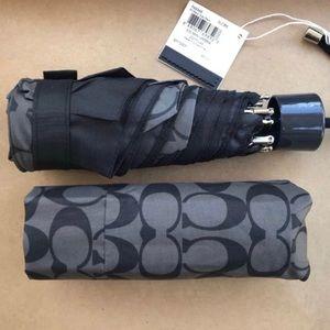 Authentic Coach Nylon Retractable umbrella/Sleeve